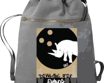Bowling For Rhinos - Ga AAZK - Comfort Colors Cinch Sak