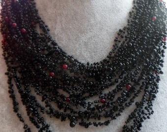 "Sale 15%   Necklace ""Vozdushka"" with natural stone"