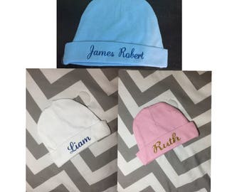 baby hat, personalized baby hat, hospital hat, baby shower, baby shower gift, baby girl, coming home outfit, baby boy, gender nuetral