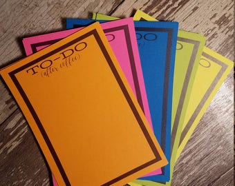 To-Do (after coffee) Note Card Set