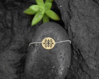 SHANA bracelet /18k gold plated bracelet/boho/Anniversary Gift/silver chain/Birthday Gift/Circassian jewelry