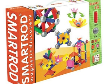 SmartRod Magnetic Discovery Set 45 pcs with Rooftop