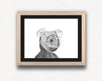 MOUSE Limited Edition Art Print - sheet series limited mouse