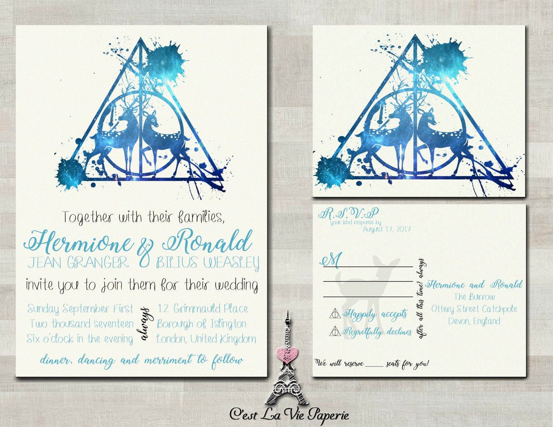 Funky Harry Potter Wedding Invitations Vignette Invitation Card