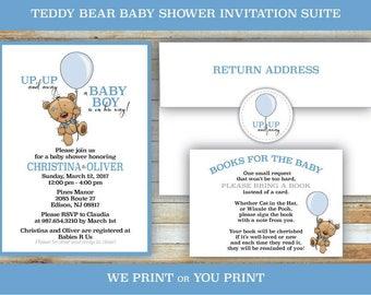 Teddy Bear Baby Shower invitation suite - DIGITAL FILE