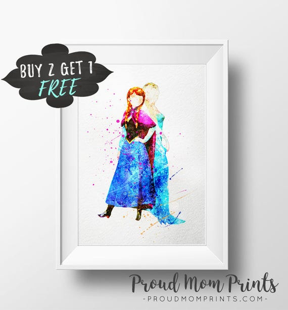 Frozen Wall Art anna and elsa frozen wall art print princess anna poster