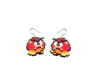 Goomba supermario-geeky earrings/geeky jewelry/8bit earrings/gamer jewelry/mario geeky necklace/nintendo/retrogame/perlerbead minihama/16bit