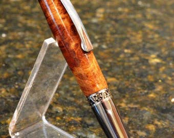 Hand Crafted Red Mallee Burl Twist Pen