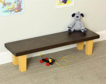 Childrens Bench with Tapered Legs