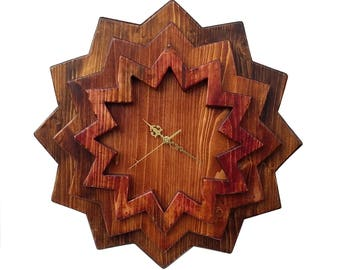 Handcrafted Star Clock.