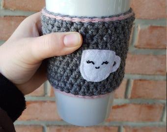 Crochet mug cozy coffee cup