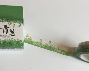 Flowers in Grass Lawn Washi Tape