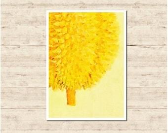 Durian Watercolour Painting Postcard Poster Art Print Q69