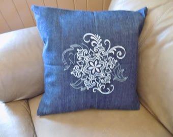 Winter Floral 1 Toss Pillow Cover
