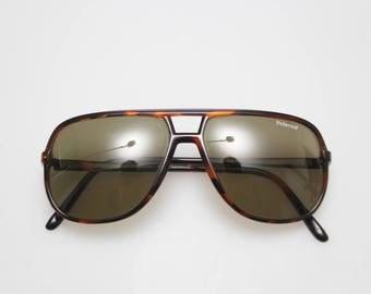 POLAROID vintage sunglasses brown lens and tortoise frame original 70's