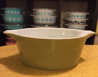 Pyrex 475-B Verde Green Casserole Dish