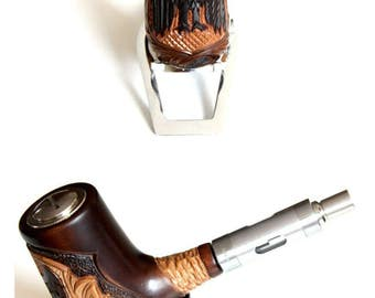 E-pipe/E-pipe made of real wood BW-X 10 (100% hand work)