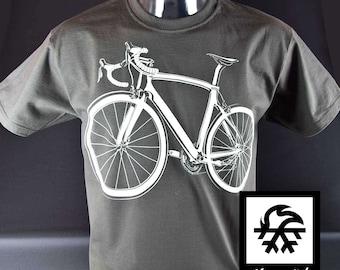 T-Shirt race page mountain bike MTB bicycle bike illustration by Waveslide
