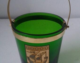 Green vintage ICE BUCKET