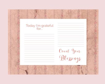 Printable Happiness Journal Template - Count Your Blessings