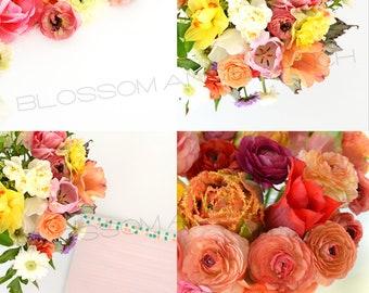 Easter Floral Flower Stock Images - Spring Garden Blog Instagram Images