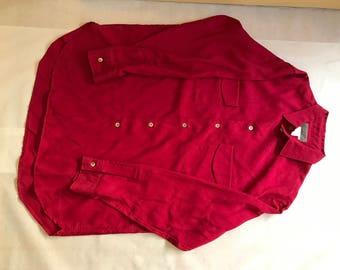 Yohji Yamamoto Red Shirt Size M