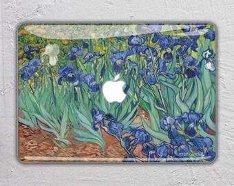 famous art macbook skin macbook decal painting macbook sticker paint macbook cover macbook pro macbook air Irises Vincent Van Gogh  FSM131