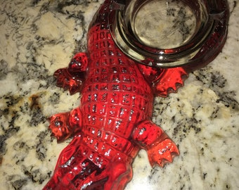 Lucite alligator ashtray