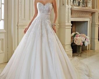 A-Line Wedding Dress With Sash