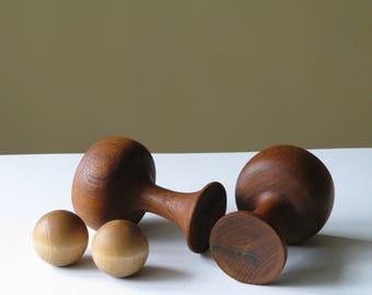 Cups, Balls, reading corner decor Danish Teak