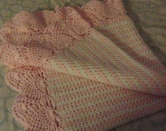 Hand-Made Crochet Baby Blanket
