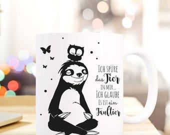 Gift coffee cup sloth OWL saying TS401