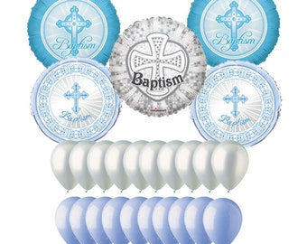 Baptism Balloons for Boys and Girls