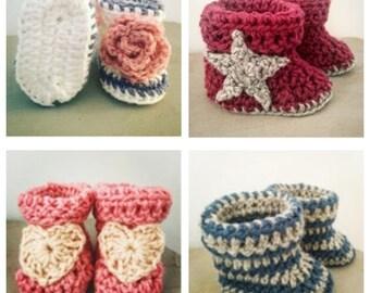 Unique Handmade Crochet Baby Bootie Gifts