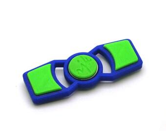 3D Printed Fidget Spinner (Blue/Light Green)