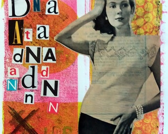 Dada Girl - Collage
