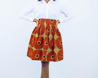 Midi Skirt,Ankara Skirt, Boho Skirt, Summer Skirt, Colorful skirt, Women midi, fabric skirt, short skirt, african skirts, african prints