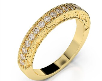 0.36ctw Diamond Wedding Band 14k Yellow Gold
