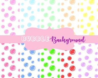 Bubble digital paper, bubble clipart, bubble printable paper, bubble download, bubble background, bubble backdrop, digital bubble