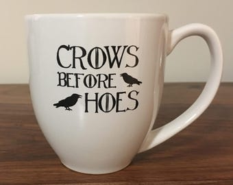 Crows Before Hoes Breakfast Mug
