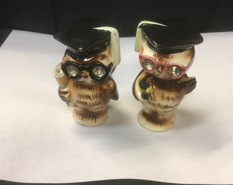 Lefton's Owl Salt and Pepper Shakers
