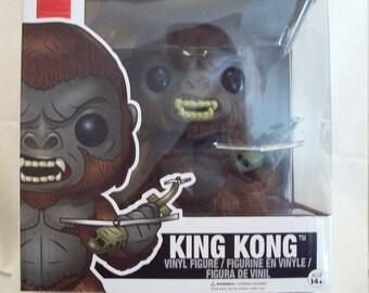 "FUNKO-POP-MOVIES-Kong-Skull-Island-King-Kong-6""-Tall-388-New In Box-Mint Condition"