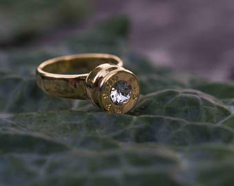 Bullet Ring with Crystal