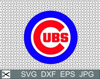 Chicago Cubs Logo SVG Eps Dxf Jpeg Vector Digital Download Cut File Silhouette Studio Cameo Cricut Design Decal Vinyl Stencil Template