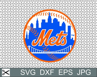 New York Mets Logo SVG Eps Dxf Jpeg Format Vector Design Digital Download File Silhouette Studio Cameo Cricut Design Cutting Machines