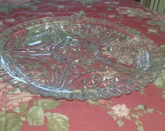 ANCHOR HOCKING Vintage Relish Plate