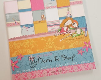 Book of Born to Shop 6x6 inch Scrapbooking Paper