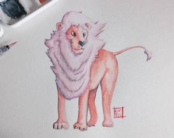 Lion - Steven Universe Fanart A4 Original watercolor