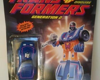 1992s Transformers Generation 2- Skram on card