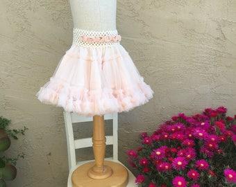 Soft pink chiffon tutu